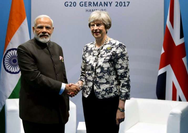 PM Modi meets Theresa May in Germany