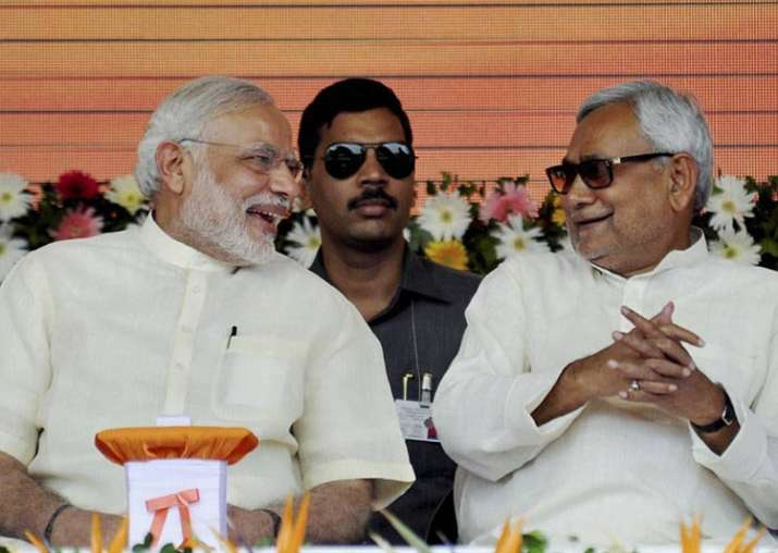 PM Narendra Modi congratulates Nitish Kumar on being sworn