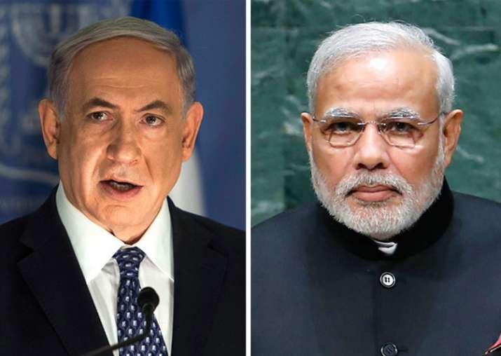 File pic of Benjamin Netanyahu and Narendra Modi