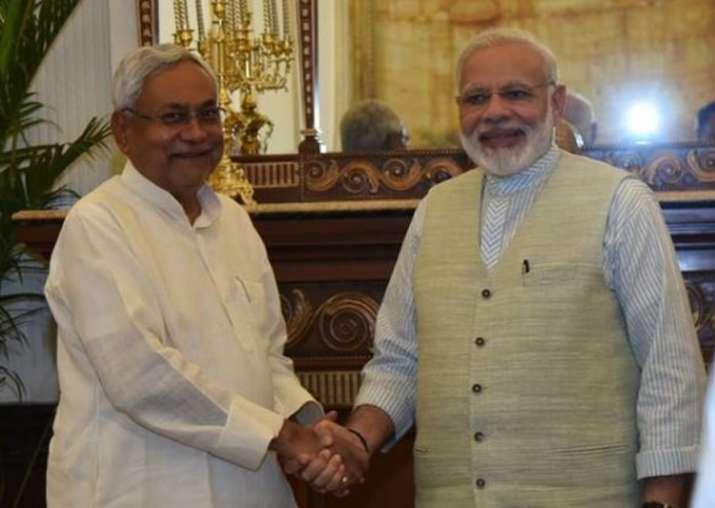 File pic - Nitish Kumar thanks PM Narendra Modi for support