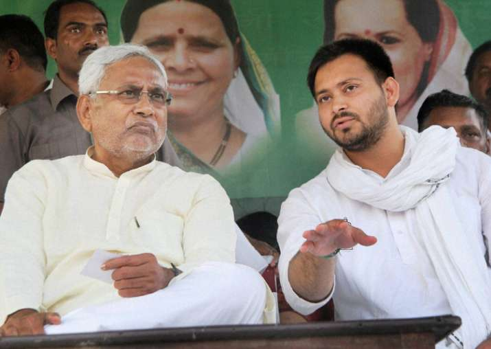 File pic - Nitish and Tejaswi at an event