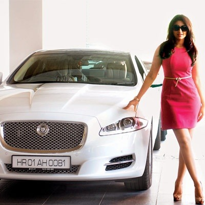 India Tv - Parineeti Chopra with her Jaguar XLJ