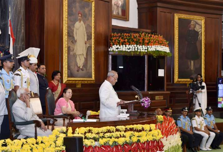 President Mukherjee's farewell function was held in Central