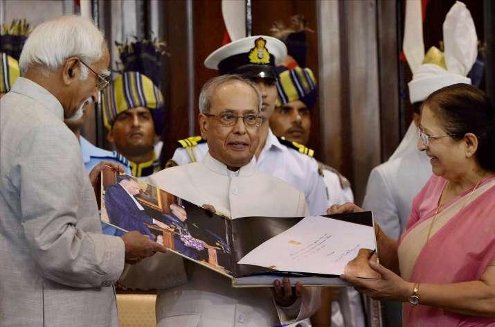 President Pranab Mukherjee at farewell function in