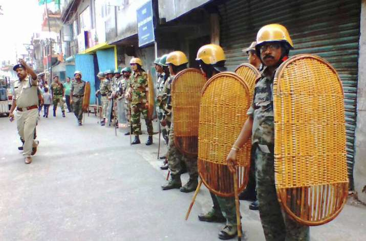 GJM activists torch TMC office in Kalimpong