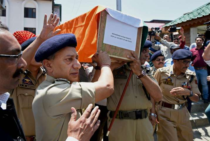 Ayub Pandith was lynched by a mob outside Jamia Masjid in