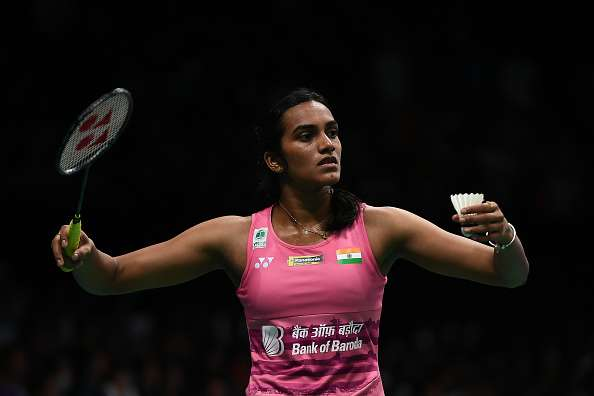 PV Sindhu of India in action
