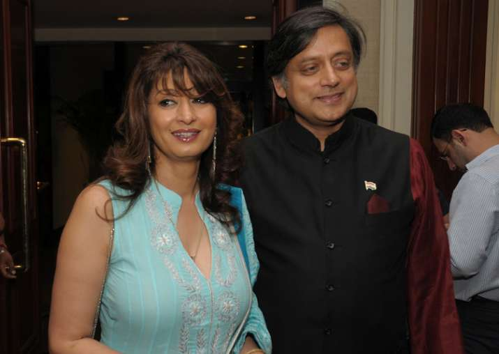 File pic - Sunanda Pushkar and Shashi Tharoor