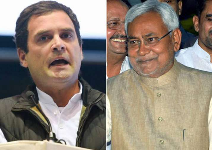 File pic - Nitish Kumar meets Rahul Gandhi in New Delhi