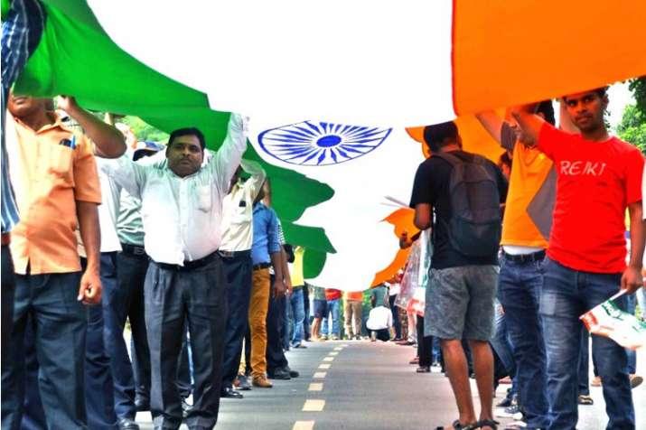 JNU organises 'Tiranga march' on Kargil Diwas