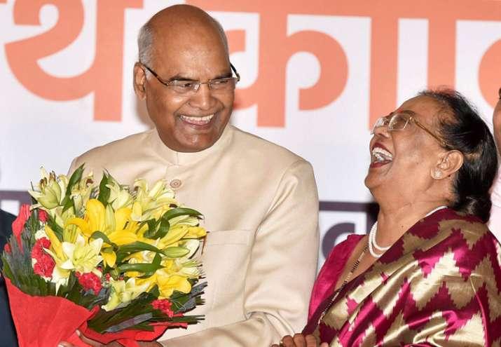 President-elect Ram Nath Kovind along with his wife Savita