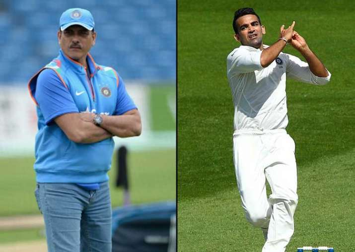 A file image of Ravi Shastri and Zaheer Khan