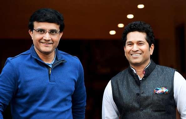 Sachin Tendulkar and Sourav Ganguly shares a light moment