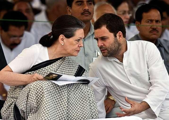 File pic of Sonia Gandhi and Rahul Gandhi