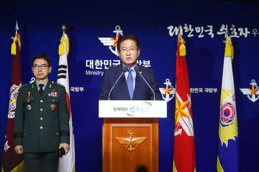 South Korean Vice Defense Minister Suh Choo Suk speaks