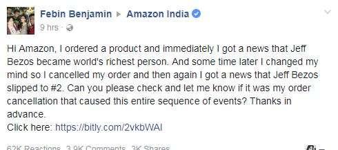 India Tv - facebook post