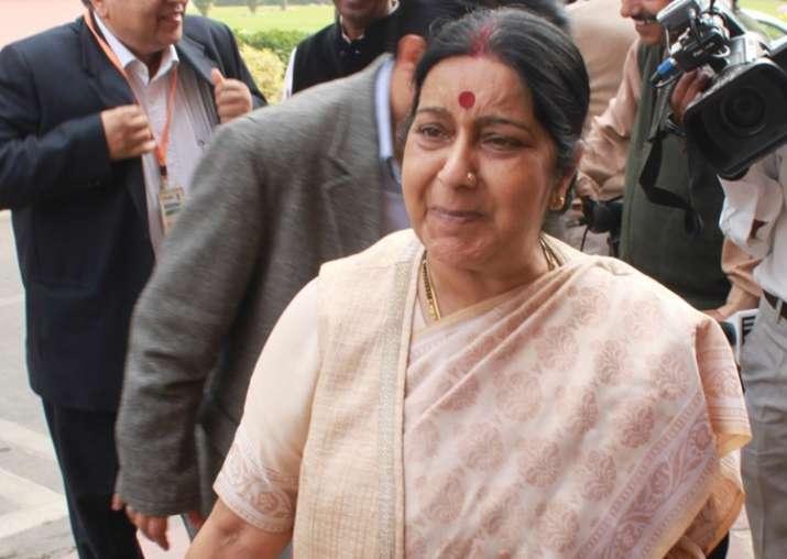 File pic - Sushma Swaraj