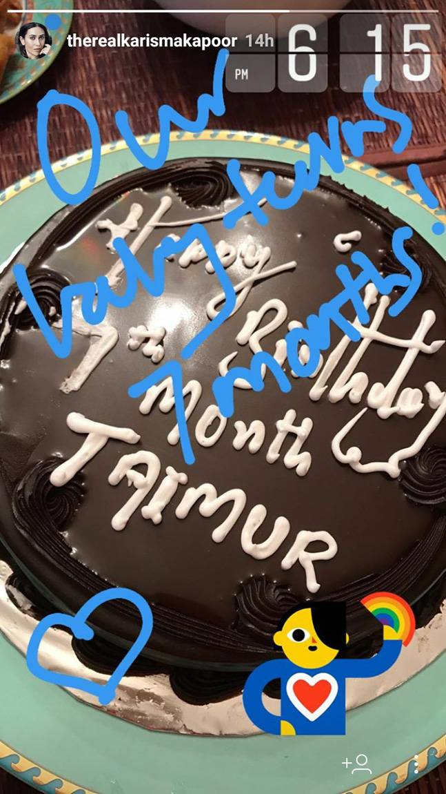 India Tv - Taimur Ali Khan birthday cake