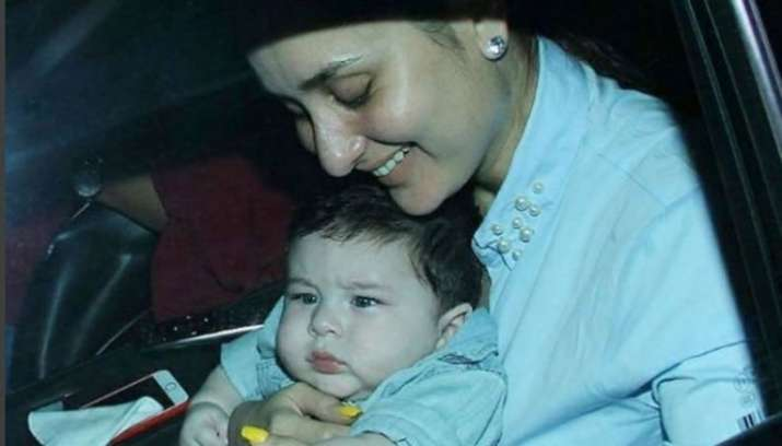 India Tv - Kareena with son Taimur