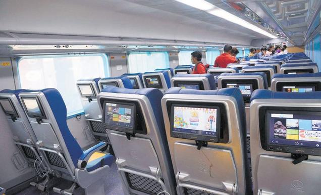Unruly passenger punches LCD screen on Tejas, coughs up Rs