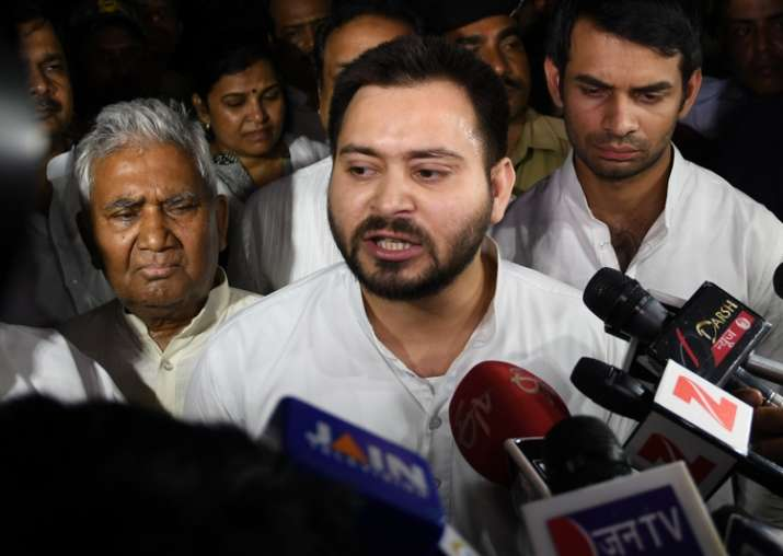 The police have registered a case against Tejashwi Yadav in