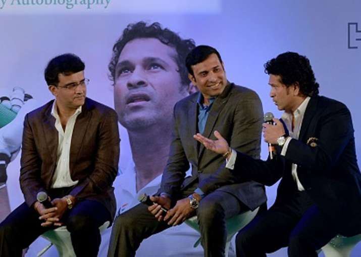 A file image of Sachin Tendulkar, Sourav Ganguly and VVS