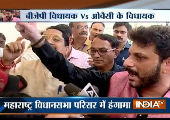 High drama in Maha Assembly as BJP and AIMIM leaders clash