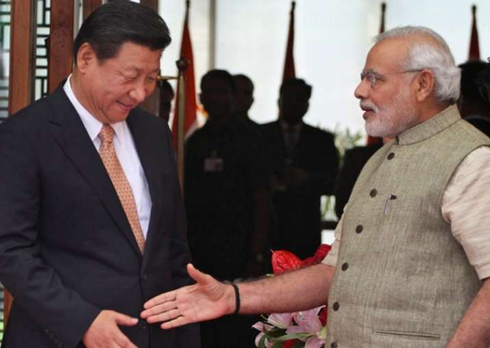 File pic of Xi Jinping and Narendra Modi