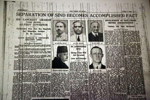 India Tv - Old newspaper clipping from Times of India before the division of British India