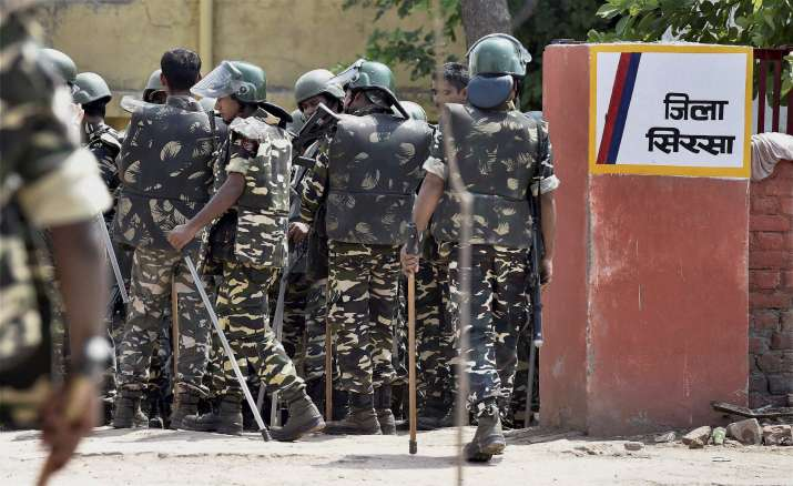 Thick security blanket covered regions in Haryana and