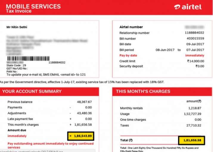 Airtel landline bill payment coupons