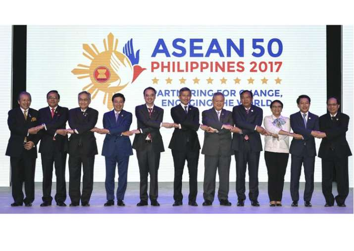 ASEAN Foreign Ministers at the opening ceremony of 50th