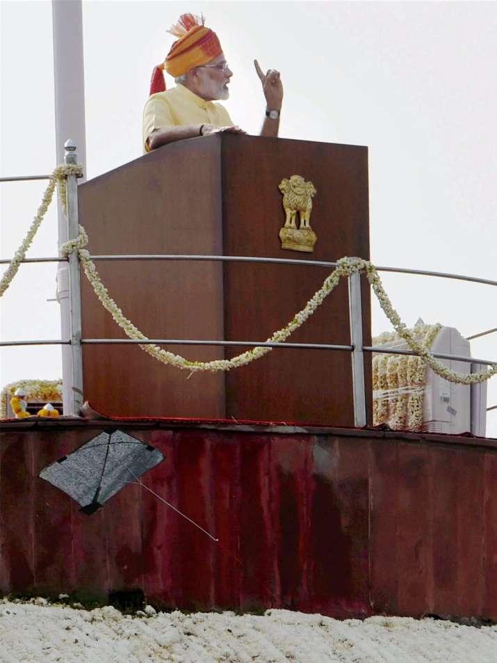 India Tv - A black kite landed near the podium during PM Modi's I-Day speech