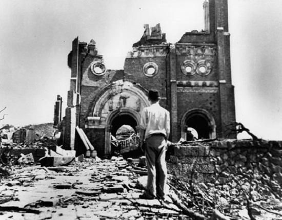 India Tv - Urakami Cathedral after Nagasaki bombing