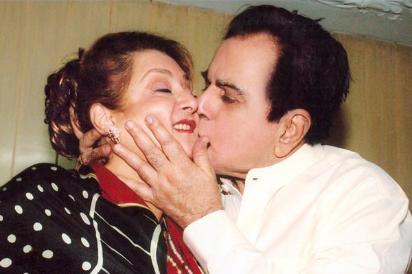 India Tv - Dilip Kumar kissing wife Saira Banu