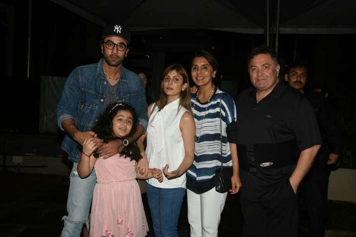 Ranbir Kapoor with Rishi Kapoor and Neetu Kapoor