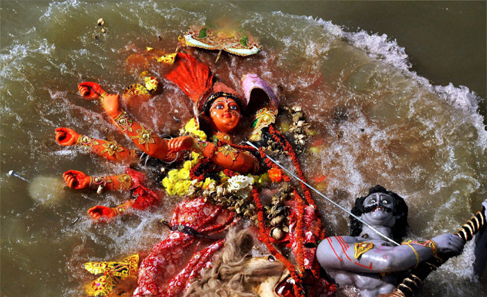 BJP, RSS slam Mamata's ban on immersion of Durga idols on
