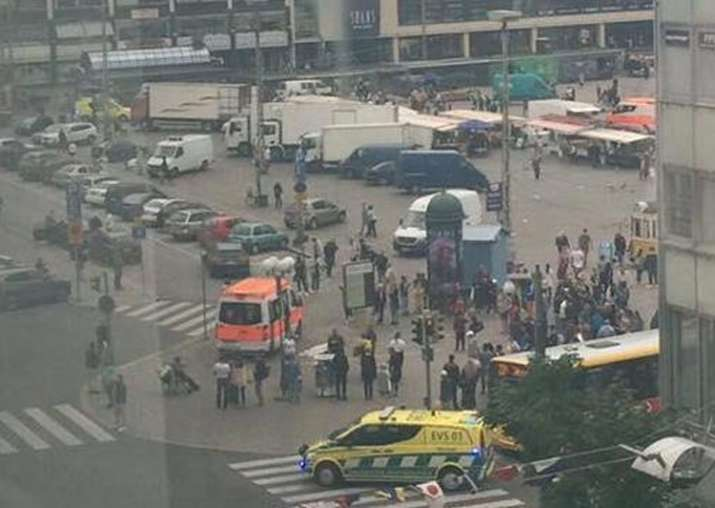Several wounded in Finland stabbing; suspect shot in the leg