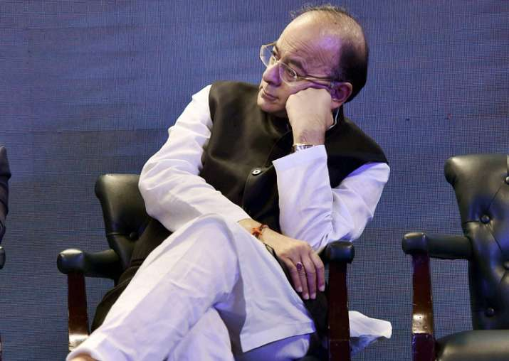 Arun Jaitley at an event in New Delhi on Wednesday