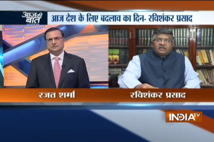 Ravi Shankar Prasad in an exclusive conversation with India