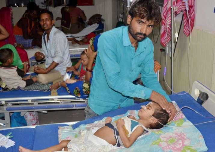 Gorakhpur: An inside view of a ward of BRD Hospital