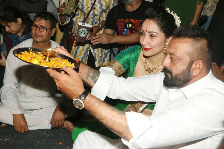 Sanjay Dutt celebrates Ganesh Chaturthi with family and