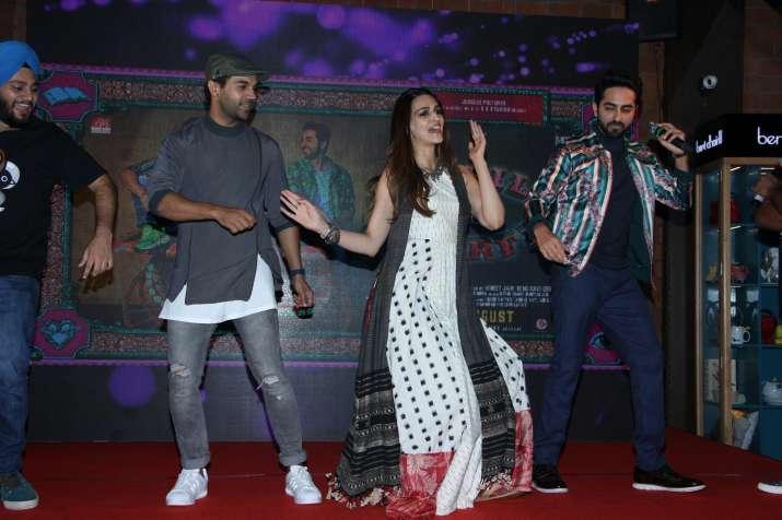 India Tv - Rajkummar Rao Ayushmann Khurrana Kriti Sanon Bareilly Ki Barfi music launch
