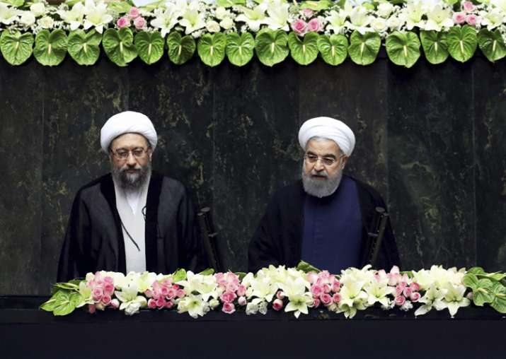 Iran's President Hasan Rouhani swears-in for the second