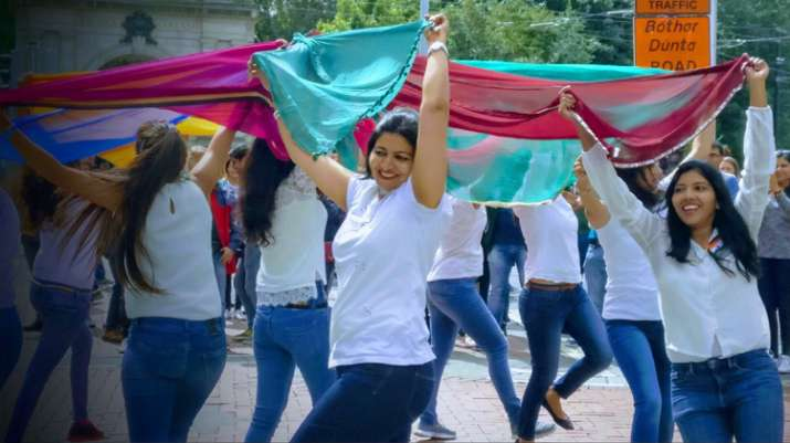 India Tv - Indian ladies in Ireland organise flash mob