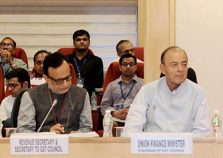 Arun Jaitley chairing the 20th meeting of the GST Council
