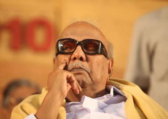 DMK chief M Karunanidhi admitted to hospital in Chennai