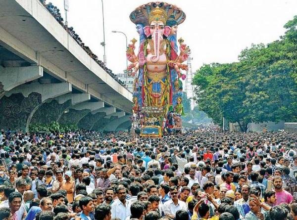 Khairatabad Ganesh Idol In Hyderabad