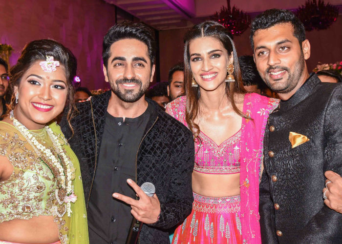 India Tv - Kriti Sanon and Ayushmann Khurrana during promotions of their forthcoming film