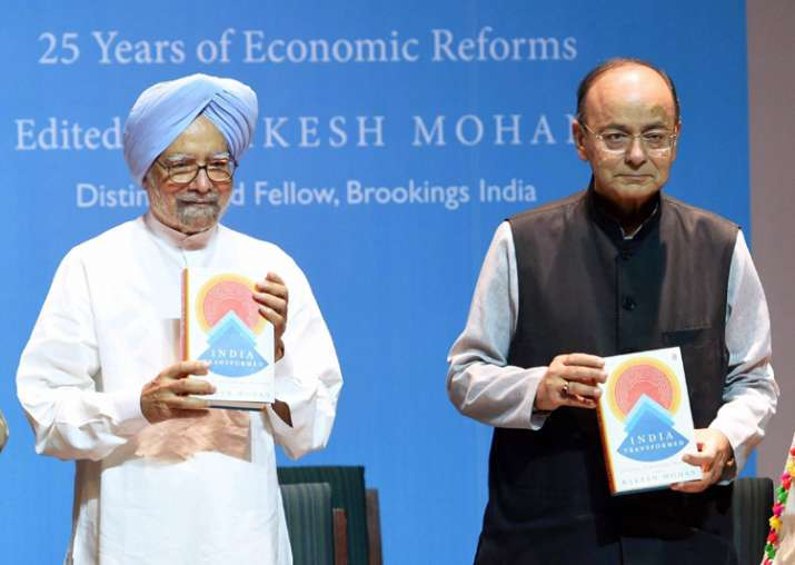 Singh, Jaitley release book 'India Transformed: 25 Years of